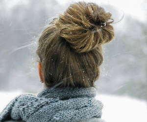 snow, girl, and hair image