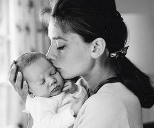 audrey hepburn, baby, and mother image