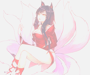 ahri, league of legends, and lol image
