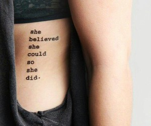 tattoo, quotes, and believe image