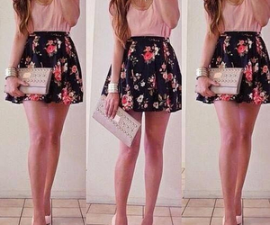 outfit, cute, and flower skirt image