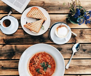cappuccino, fit, and food image