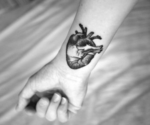 tattoo, heart, and tatoos image