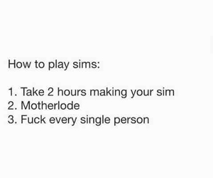 sims, funny, and lol image