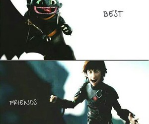 hiccup, best friends, and toothless image