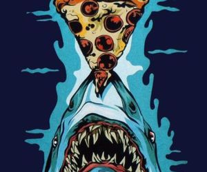 cool, jaws, and pizza image