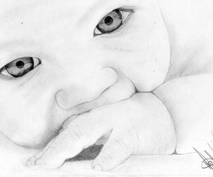 baby, drawing, and cute image