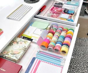 school, room, and desk image