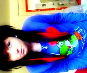 black hair, cool, and emo image