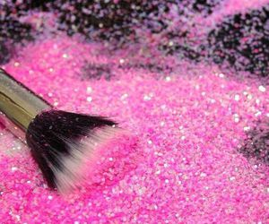 pink, glitter, and brush image