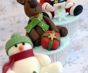 christmas, cupcake, and reindeer image