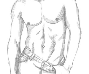 cute guy, drawing, and sketch image