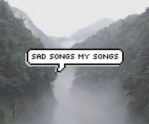 sad, song, and music image