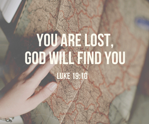 god, jesus, and lost image