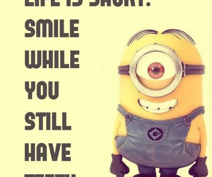 minions, smile, and life image