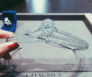 diamond, crown, and chaumet image