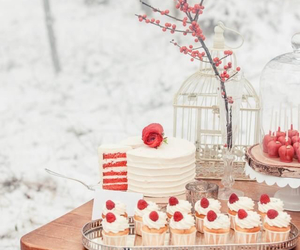cupcake, white, and winter image