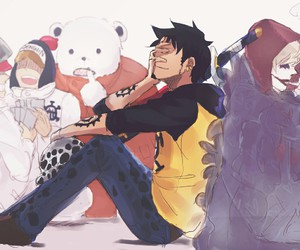 one piece, trafalgar law, and anime image