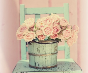 vintage, flowers, and pastel image
