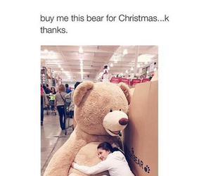 christmas, bear, and teddy bear image