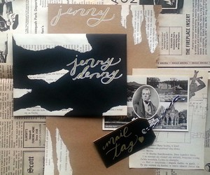 air mail, black and white, and Collage image