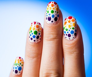 colorful, dots, and manicure image