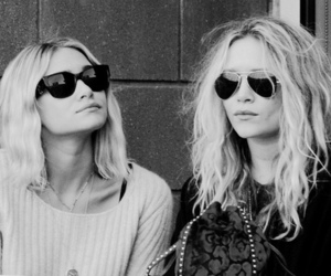 olsen, twins, and black and white image