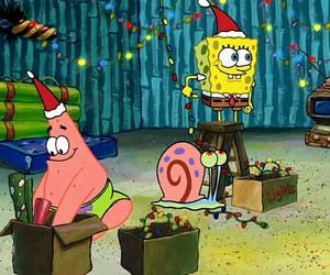christmas, spongebob, and gary image