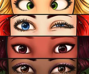 princess, eyes, and disney image