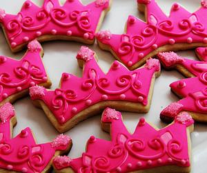 pink, Cookies, and crown image