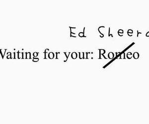 ed sheeran and waiting image