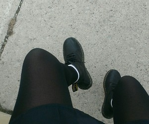 black, doc martens, and grunge image