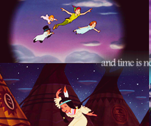 disney, peter pan, and tiger lily image