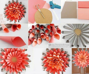 diy, flowers, and Paper image