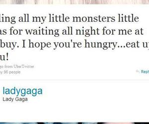 fans, twitter, and Lady gaga image