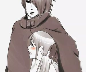 daughter, naruto, and uchiha image