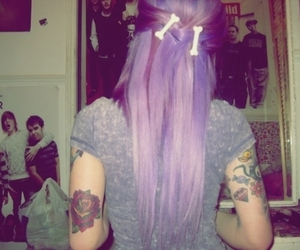 tattoo, hair, and girl image