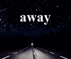 away, road, and sky image