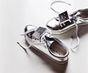 shoes, silver, and sneakers image