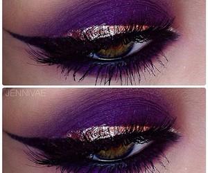 eyeliner, make up, and mascara image