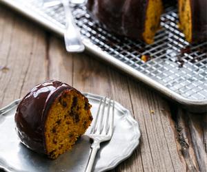 cake, chocolate, and pumpkin image