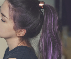 chic, hair, and purple image