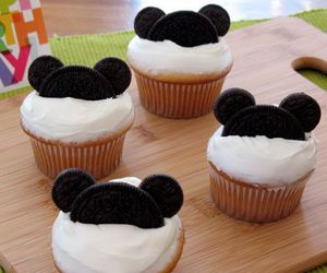 food, funny, and mickey mouse image