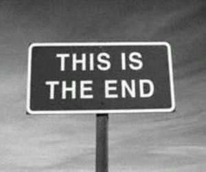 end, black and white, and the end image