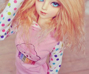bjd, blond, and doll image