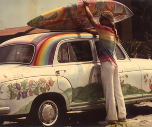 surf, car, and hippie image