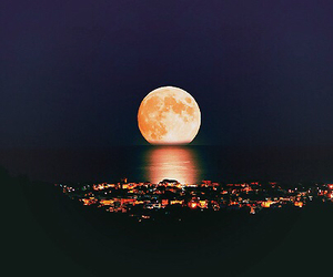 moon, night, and city image