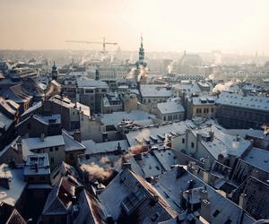 city, prague, and winter image