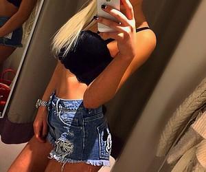 beautiful, girl, and skinny image