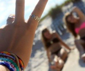 peace, bracelet, and girl image